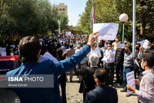تجمع معلمان در اعتراض به طرح رتبهبندی / عکس