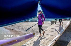 مسابقات قایقرانی بانوان/ عکس