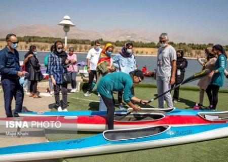 مسابقات قایقرانی بانوان/عکس