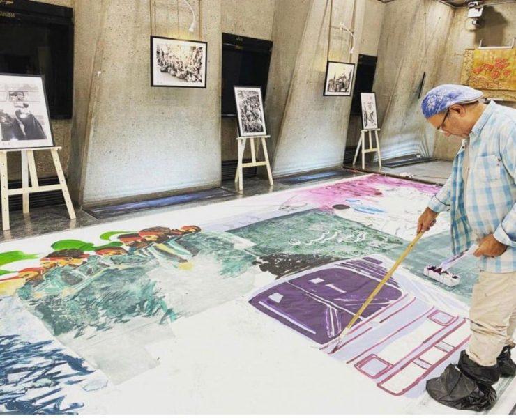 هومن شیخ بشارتی هنرمند نقاش و استاد داوود رواسانی پیشکسوت خوشنویسی