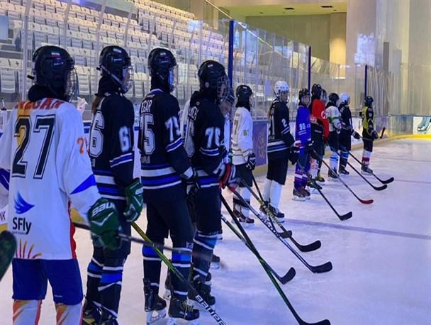 برگزاری تست های فنی از ملی پوشان هاکی روی یخ بانوان