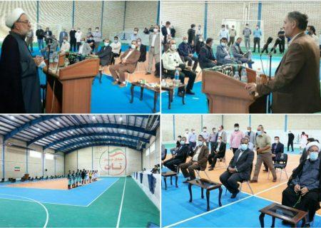 افتتاح سالن ورزشی در روستای خیارج