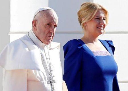 استقبال خانم رییس جمهور از پاپ فرانسیس/ عکس