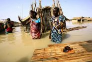 سیلاب در اردوگاه آوارگان جنگی در سودان/ عکس