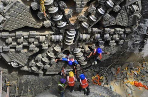 پایان عملیات حفاری زیرزمینی پروژه تونل مترو در بنگلور هند/ عکس
