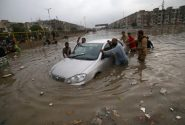 سیل در شهر کراچی پاکستان/ عکس