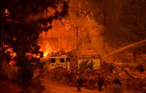 آتش سوزی جنگلی در کالیفرنیا /عکس