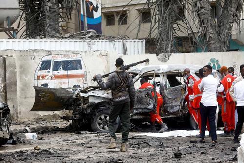 حمله انتحاری به نزدیکی کاخ ریاست جمهوری سومالی/عکس