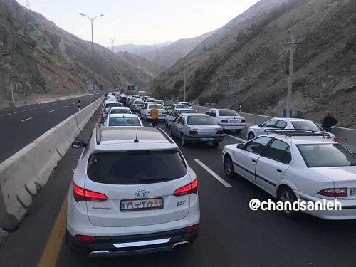 وضعیت اتوبان تهران شمال ، صبح امروز / عکس