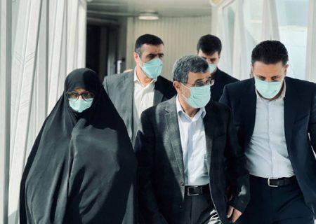 احمدی نژاد و همسرش در سفر دبی/ عکس