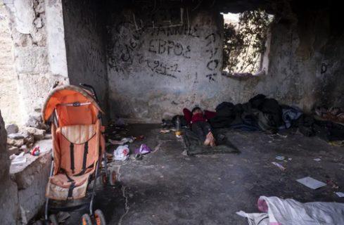 پناهگاه مهاجران سوری در مرز یونان وآلبانی/ عکس
