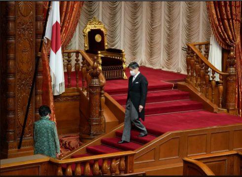سخنرانی افتتاحیه امپراتور ژاپن در مجلس سنا/ عکس