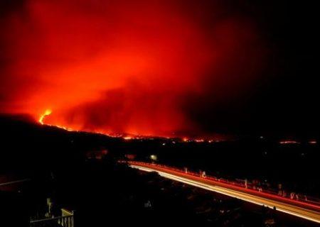 فعالیت آتشفشان در اسپانیا/ عکس